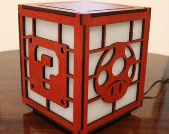 Mario Lasercut Wooden Electric Box Lamp