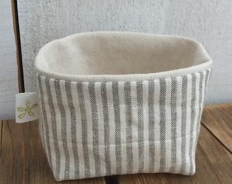 Tiny Linen Basket