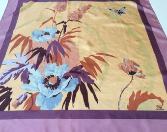 Vintage Liberty of London Silk Scarf, Liberty All Silk, Made in England, Beautiful Floral Pattern, Excellent Condition