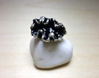 Big Rings, Chunky Ring, Large Rings, Large Rings Women, Black Silver Ring, Big Silver Rings, Chunky Rings for Women, Large Fashion Ring