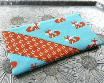 Zip Pouch, Fox Clutch, Pencil Case, Makeup Bag