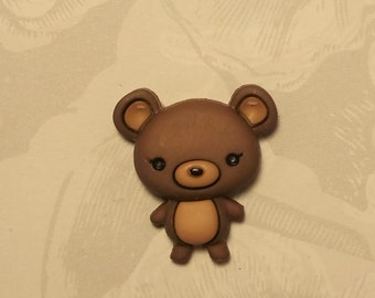 Big Head Teddy Bear Pin