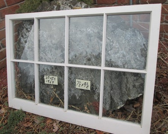 35 x 24 Vintage Window sash old 8 pane frame from 1969