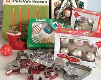 Vintage Christmas set for your consideration