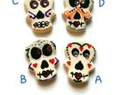Day of the Dead Jewelry,  Sugar Skull Pin, Dia de los Muertos,  Halloween  Accessories