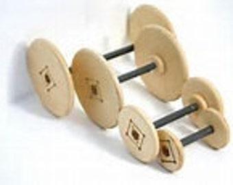 BOBBINS for spinolution spinning wheels, 4 oz, 8 oz, 16 oz, 32 oz, or 64 oz options.  See details below.