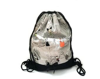 Draw string bag gym bag Zombie Apocalypse