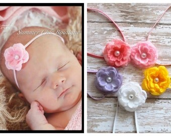 You Pick Colors - Baby Headband, Infant Headband, Newborn Headband, Light Pink Baby Headband