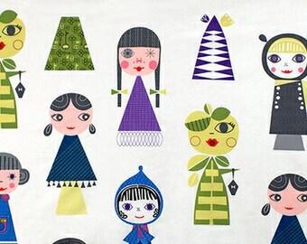 Suzy's Dollhouse in Garden - fabric from Robert Kaufman