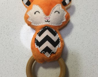 Orange Fox Rattle Ring