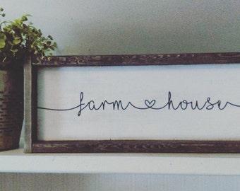 Farmhouse Sign / Framed / Fixerupper Style