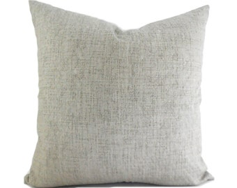 Outdoor Pillows Outdoor Pillow Covers Decorative Pillows ANY SIZE Pillow Cover Solid Grey Pillow Robert Allen Outdoor Weavescene Gray