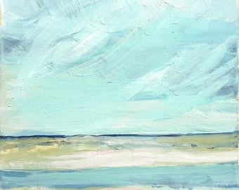 A Visit to the Sea - limited edition print of an original oil painting