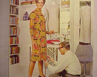 1969 McCall's Step By Step Sewing Book with nice cover art has 160 pages of Fashion and Sewing Ideas