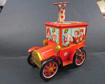 Vintage  Circus Car Wind Up Toy