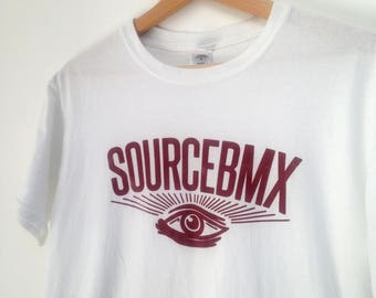 rad SourceBMX Skate Wear tshirt White skateboard bmx street wear M
