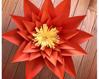 Large Paper Flower Template # 21