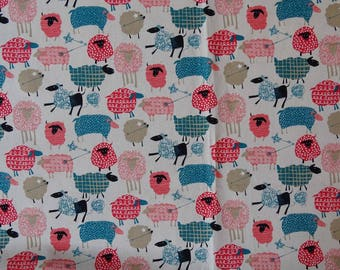 Kawaii Sheep Japanese cotton fabric.