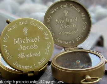 Baptism Compass, Baptism Gift Boy, Engraved Compass, Boy Baptism Gift, Baptism Gift, Personalized Compass, Baptism Gift for Boy, Compass