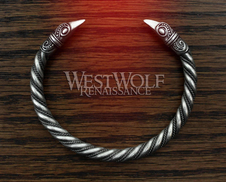 silver viking odin u0027s raven head bracelet hugin and munin