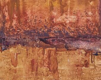 "Original Abstract Oil Painting,  ""Wise men"" , 12""x9"", by  artist John Kelley"