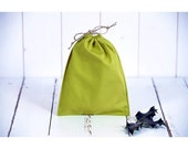 Cotton bag organic eco-friendly gift packaging, zero waste, can be used as bag to bulk, small model, olive green color.