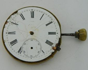 Swiss Watch Mechanism Movement for parts repair not work #841S