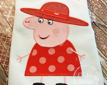 Peppa Pig Family Granny Pig Birthday Custom Tee Shirt - Customizable -   Adults 1112