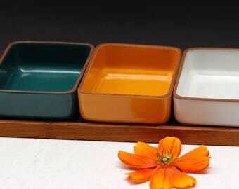 Beautiful Danish Teak/Ceramic serving set Mid Century