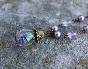 Lavander Flower Necklace