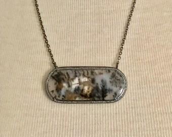 Russian Dendrite Diamond Necklace