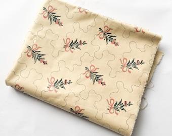 Original vintage fabric, Laura Ashley, 1982, 1.2m x 1.4m, cream