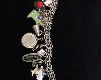 Sterling loaded charm bracelet
