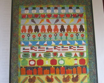 SEasons in a Row Applique Quilt Pattern