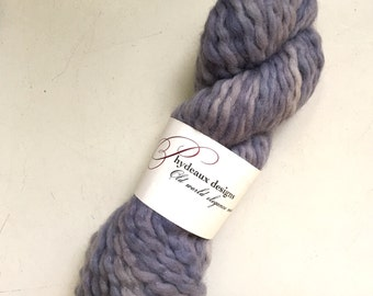 45% Off Super Bulky Phydeaux Designs Crepe Wool Yarn Hand Dyed Dusty Lilacs 4 oz 70 yards