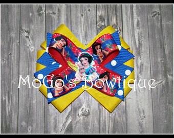 Snow White Inspired Hair Bow