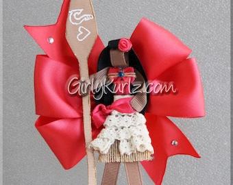 Moana Hair Bow, Moana Hair Clip, Moana Bow, Ribbon Sculpture, Moana Clip, Princess Hair Clip