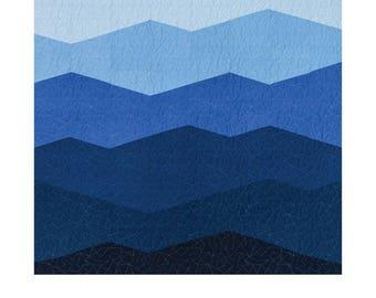 Range Quilt Pattern - Modern Handcraft - Nicole Daksiewicz