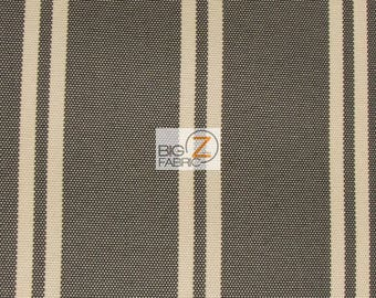 """Oxford Stripe Outdoor Canvas Waterproof Fabric - BROWN - 60"""" Width Sold By The Yard Outdoor Umbrellas Furniture Anti-Uv Canvas"""
