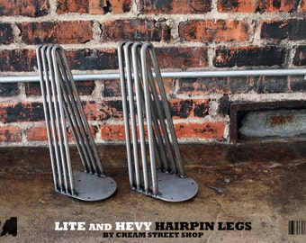 Hevy Hairpin Leg - Bare Steel