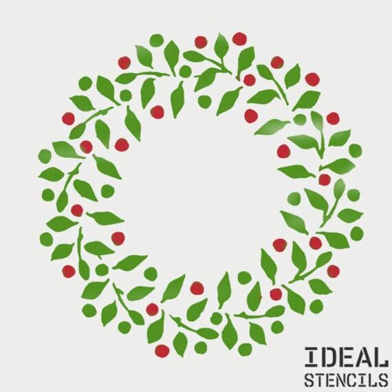 Christmas Wreath Stencil Xmas Festive Craft Painting Window