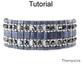 Miyuki Tila Bead Patterns - Bracelet Jewelry Making Tutorials - Instant Download - Simple Bead Patterns - Themyscira Bracelet #25209