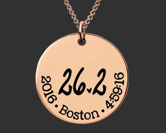 26.2 Necklace | Rose Gold Marathon Necklace | Marathon Gifts | Runner Gift | Marathon Jewelry | Custom Personalized Necklace | Korena Loves