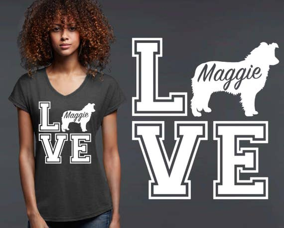 Border Collie | Border Collie Shirt | Collie Gifts | Dog Shirt | Dog Lover Gift | Personalized T-shirts | Korena Loves