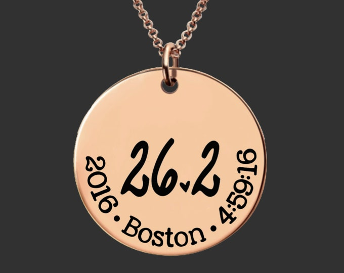 26.2 Necklace   Rose Gold Marathon Necklace   Marathon Gifts   Runners Gift   Marathon Jewelry   Custom Personalized Necklace   Korena Loves