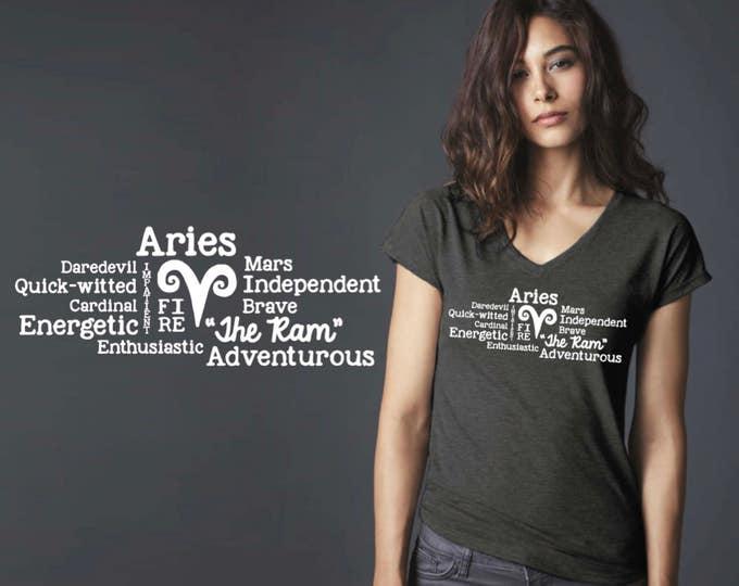 Aries | Zodiac T-shirt | Aries Tee | Aries T-shirt | Zodiac Tee | Custom T-shirts | Inspirational T-shirt | Korena Loves