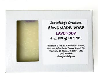 Lavender Soap - Lavender - Handmade Soap - Artisan Soap - Purple and Cream - Soap - Purple - Off White - Floral Soap - Swirled Soap