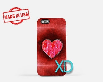 Artistic Heart iPhone Case, Heart iPhone Case, Heart iPhone 8 Case, iPhone 6s Case, iPhone 7 Case, Phone Case, iPhone X Case, SE Case