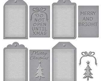 Spellbinders - Shapeabilities - Christmas Tag Set Die