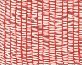 Gingiber Merrily Weave Red for Moda Fabric Christmas Fabric Red and White Fabric Geometric Quilt Fabric and Material